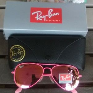Brand New All Pink RayBan Aviators 58mm Never Worn